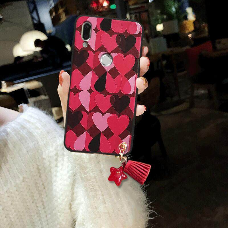 For Huawei Nova 3i Case Lovely Red Heart Soft TPU Silicone Back Cover for Huawei Nova 3i Phone Case