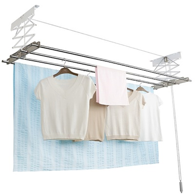Wellex Ceiling Mounted Ball Chain Laundry Drying Rack Made in KOREA System   ClothesDrying Rack Clothes Laundry Dryer Folding Hanger Hanging Foldable Compact Dry Household