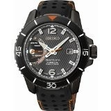 (Seiko) Seiko SRG021P1 Men s Sportura,Kinetic Direct Drive,Stainless Steel Case With Leather, Wat...