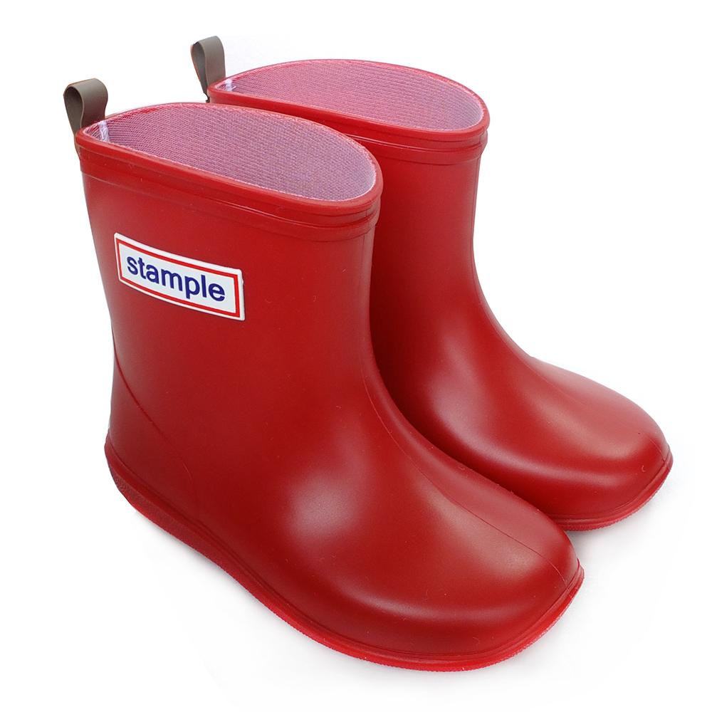 Stample日本製兒童雨鞋(蘋果紅)