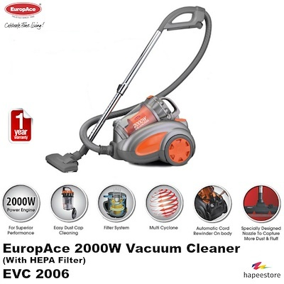 EUROPACE EVC 2006 2000W VACUUM CLEANER