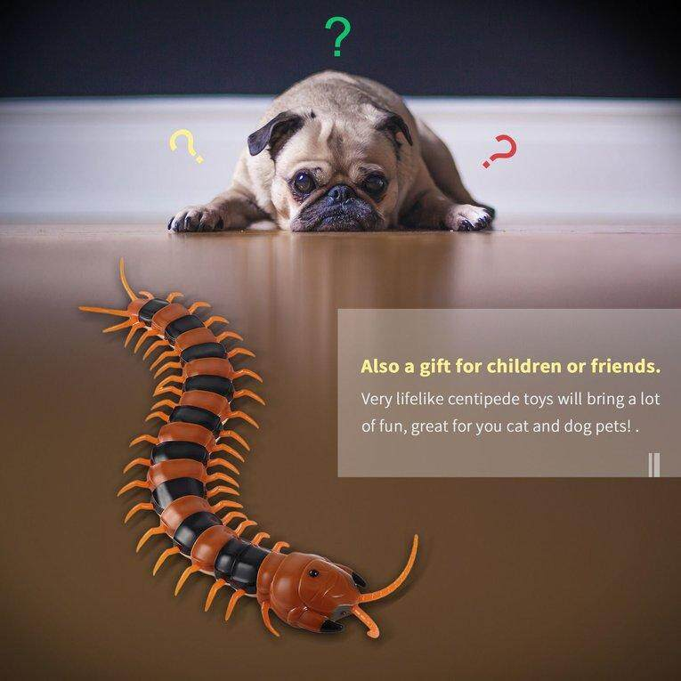 Electric Infrared RC Centipede Fake Insect Electric Tricky Funny Cat Dog Toy