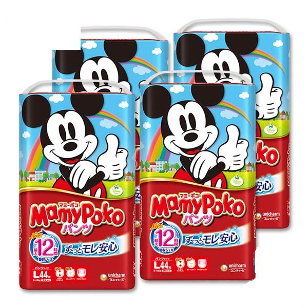 Mamy Poko Pants L (Japan Domestic) 44pcs/pack x 4 packs
