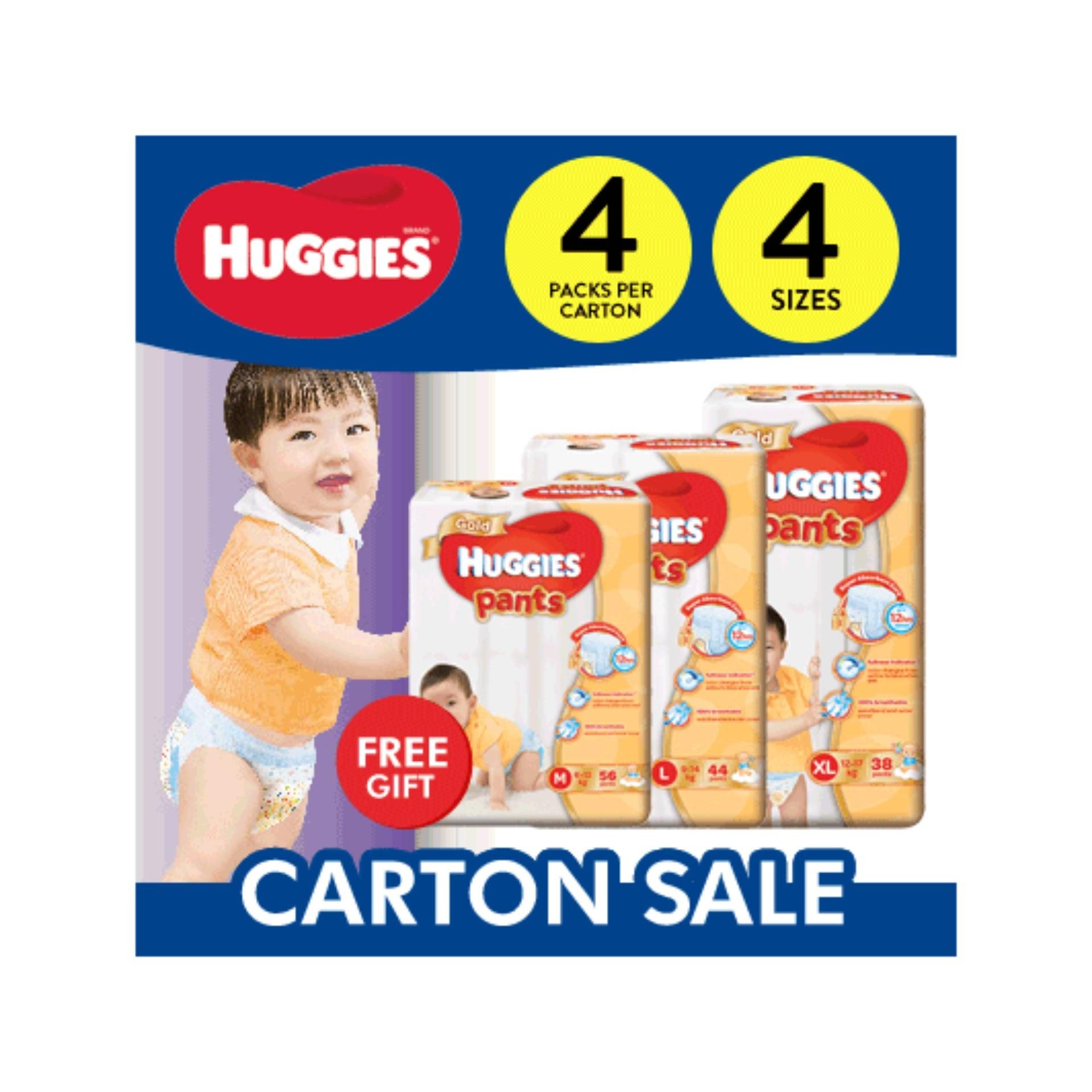 Huggies Gold Pants Carton Sales L-44'S Free 3 Small Pack Friso