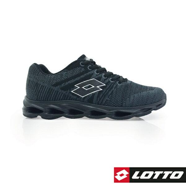 LOTTO樂得義大利第一品牌 男款SUPER LITE輕量風動跑鞋 [0520] 黑【巷子屋】