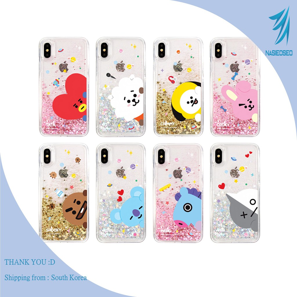 BTS BT21 Official Product Glitter iPhone Case