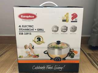 EUROPACE 4L DELUXE STEAMBOAT WITH GRILL – ESB3391S