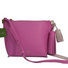 Kate Spade Pepper Foster Court Leather Tassel Pink Crossbody Bag