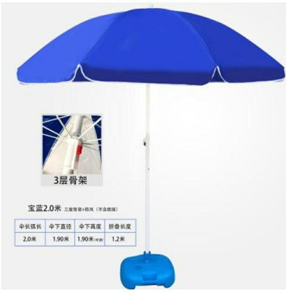 戶外遮陽傘大號戶外遮陽傘擺攤傘大型雨傘地攤沙灘傘雙層折疊LX