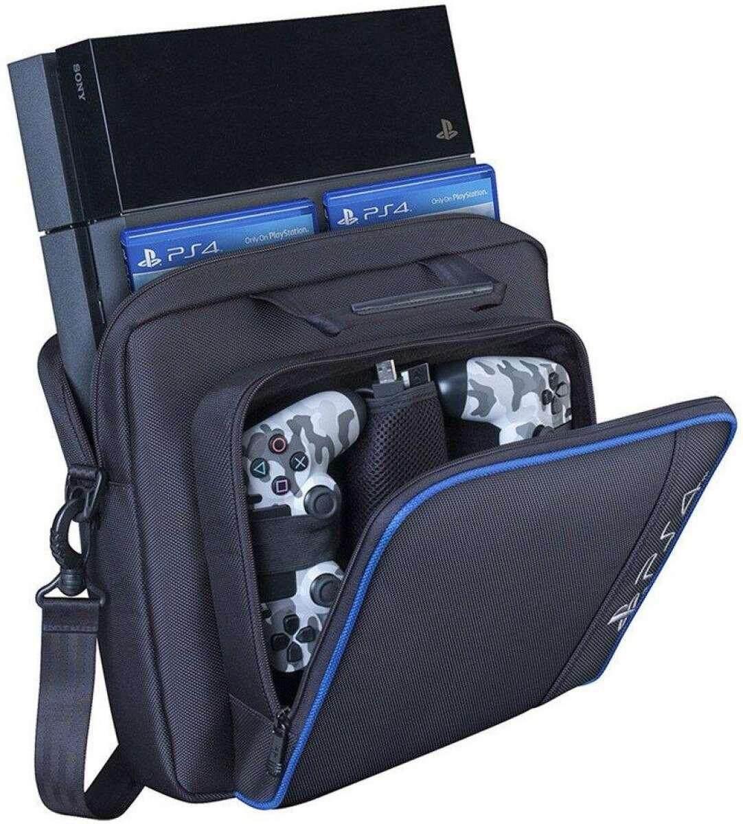 PS4 กระเป๋าเก็บของกระเป๋าเดินทางกระเป๋าถือกระเป๋าสะพายไหล่สำหรับ PS4/PS4 Pro Slim PlayStation 4 Pro คอนโซลเก็บแพคเกจ