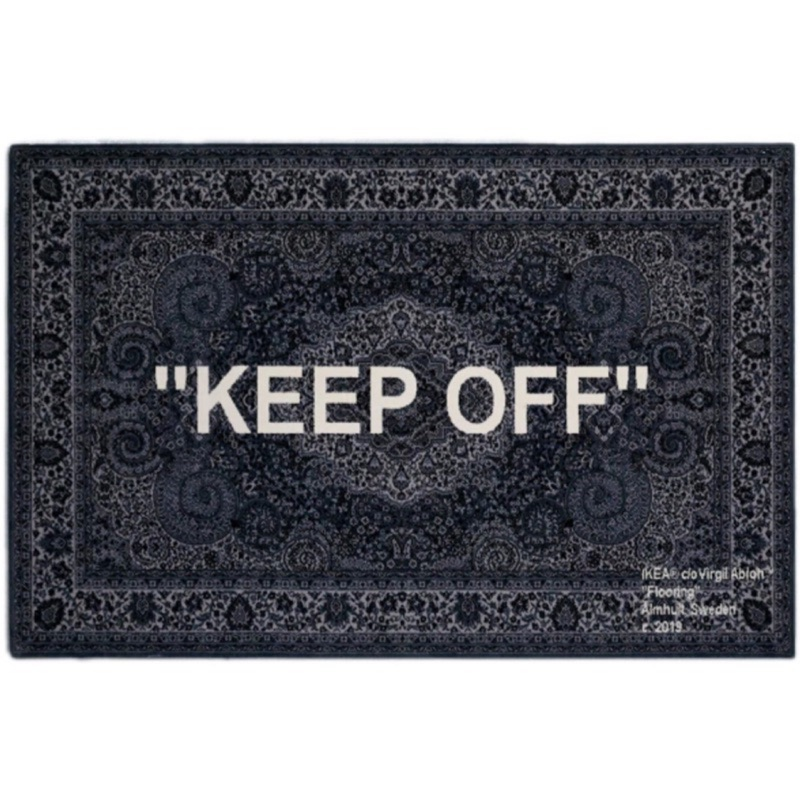 IKEA 地毯 2019 Art events Off white 創辦人Virgil Abloh 設計KEEP OFF