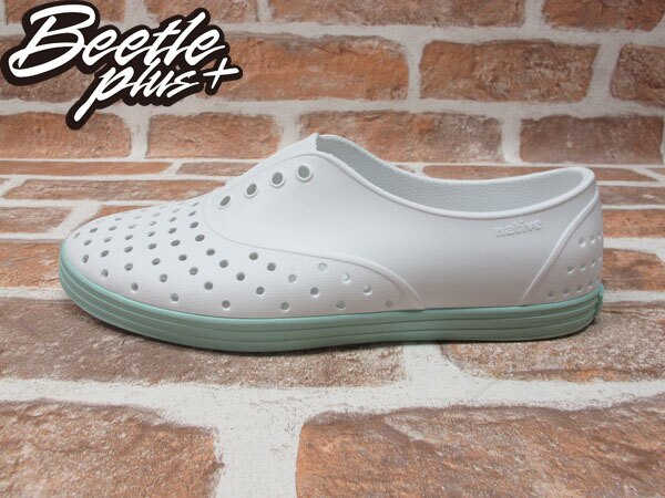 《限時$1699》女鞋 BEETLE PLUS 現貨 全新 NATIVE SHOES JERICHO SHELL WHITE ISLAND GREEN 白綠 湖水綠 馬卡龍 GLM04W-139