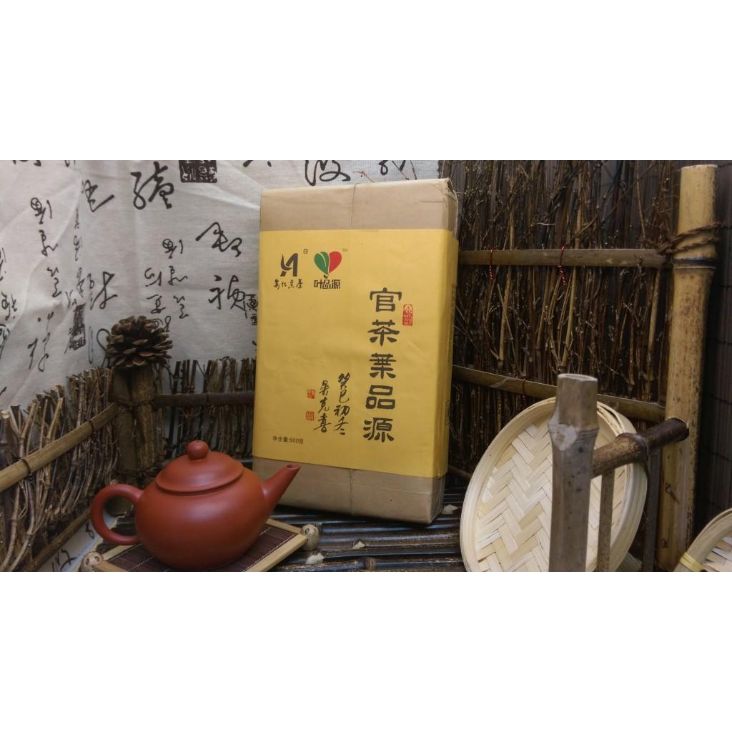 安化黑茶(茯磚) 2013年 金花手築茯磚 安化野生大葉茶 900g