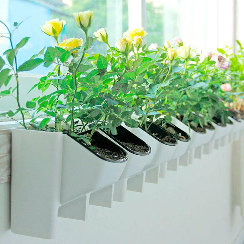 簡綠立體組合植物牆花盆綠陽台室內外背景牆樹脂掛盆簡約壁掛花盆 WD