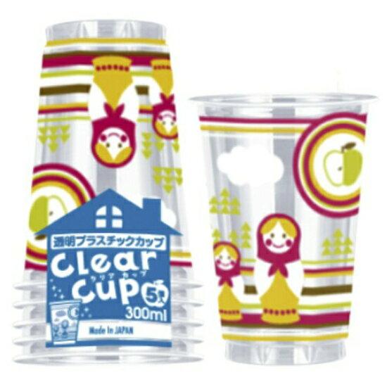 PET 塑膠杯 300 毫升的日本迪克西北歐設計 (內容數量: 5 件) Cattoco