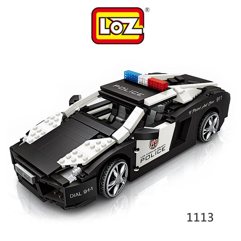 強尼拍賣~LOZ mini 鑽石積木-1113 警車 迷你樂高 積木 正版