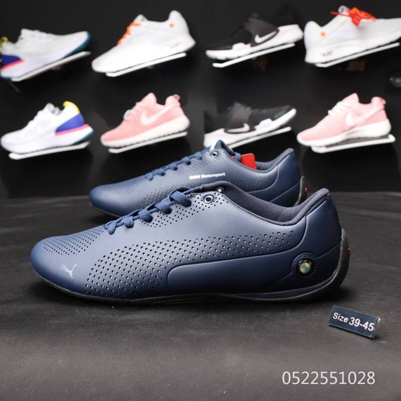 Puma BMW Racing shoes leather Sports training shoes Casual Shoes BLUE