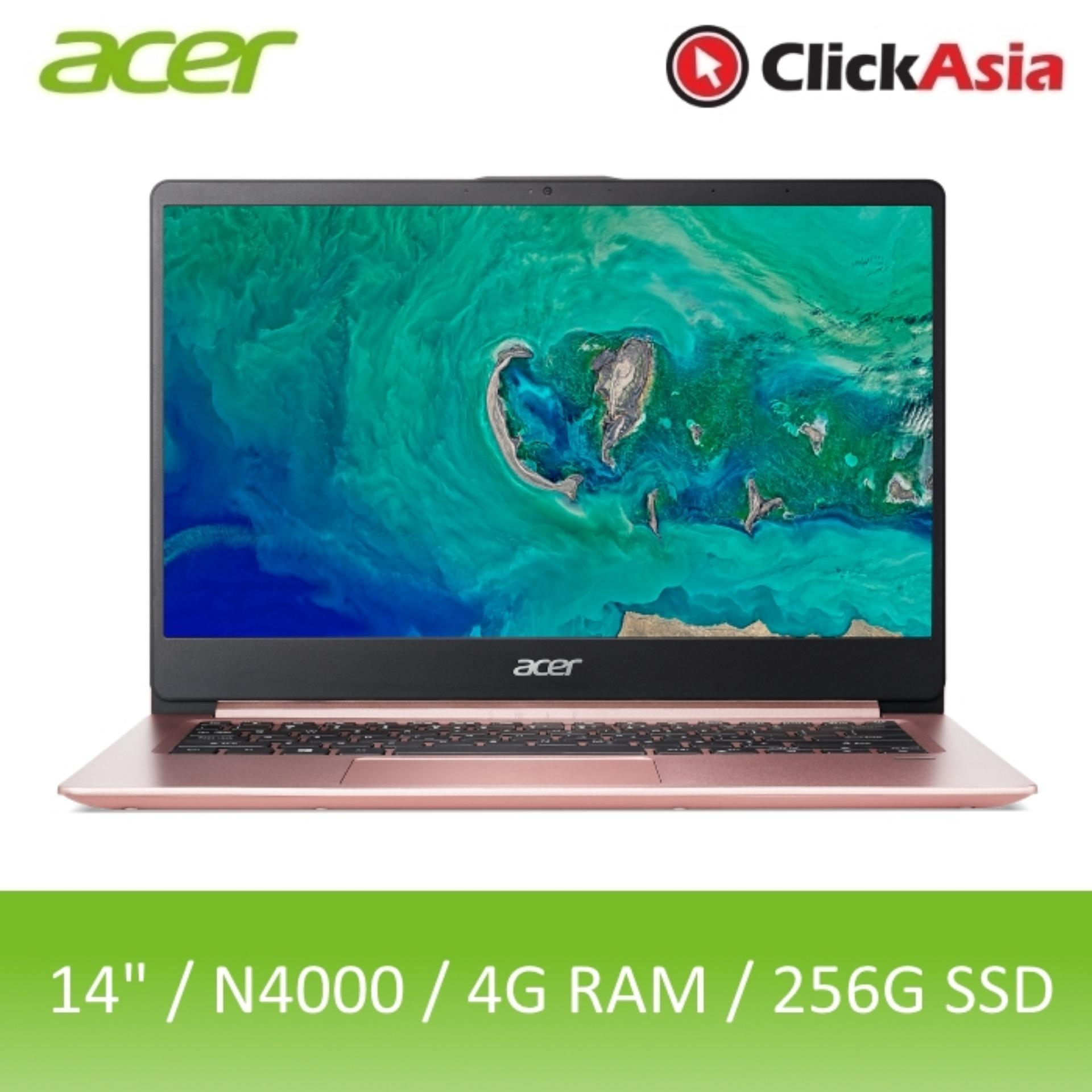 Acer Swift 1 (SF114-32-C5R6) 14-Inch IPS Narrow Border Thin and Light Laptop (Pink)
