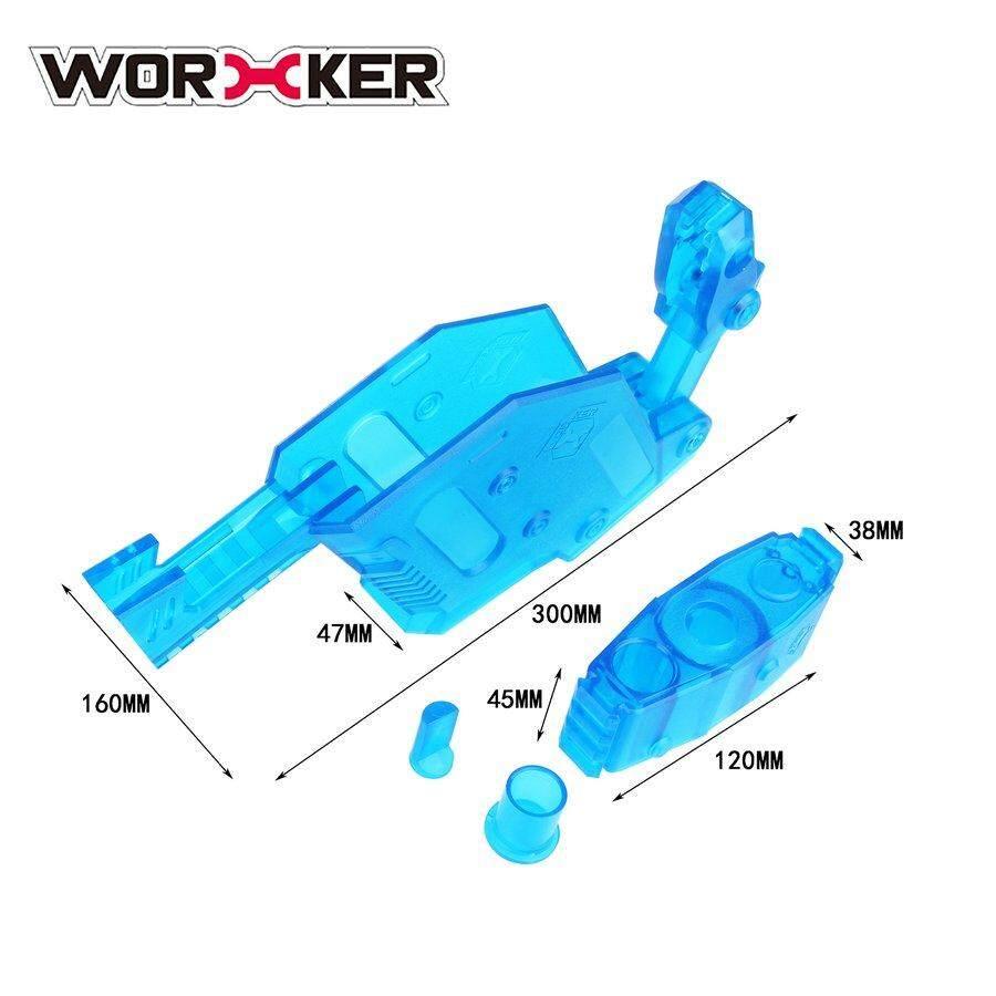 PKPNS WORKER Short Sword Shaped Cover Transparent Blue Toy Gun Kit for Nerf Stryfe