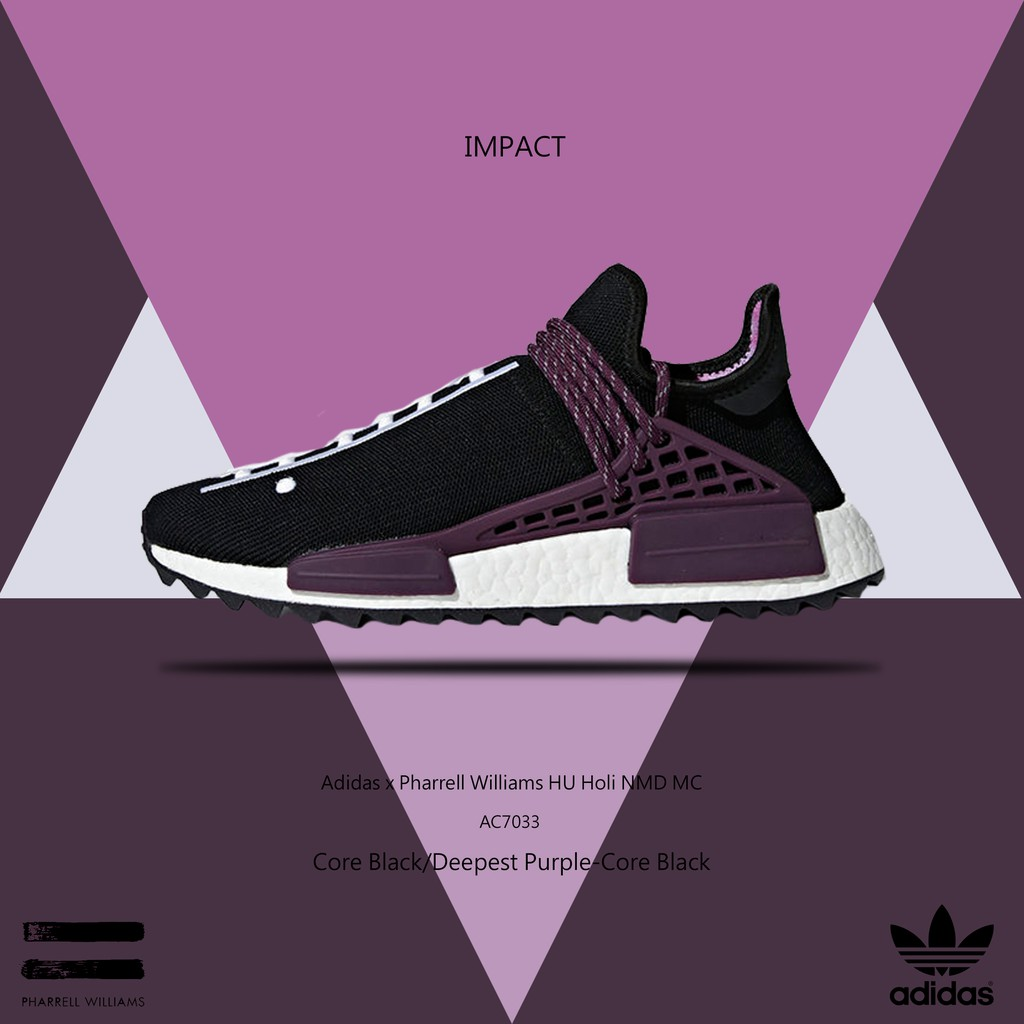Adidas x Pharrell Williams HU Holi NMD MC 菲董 紫 AC7033 IMPACT