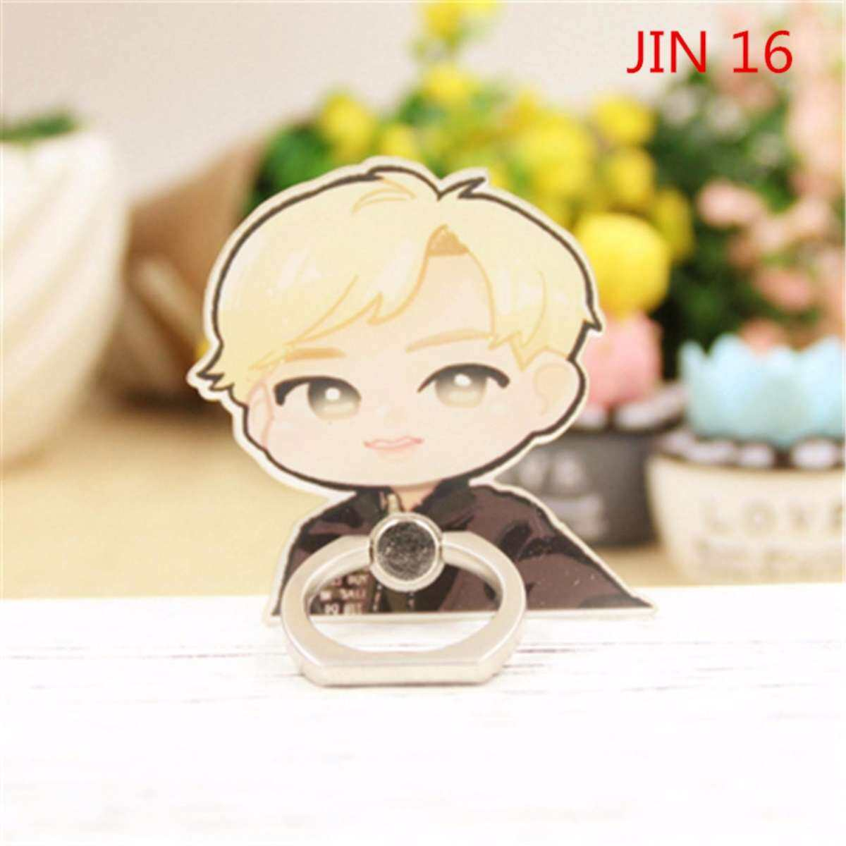 BTS JIN Bangtan Boys Case 360 Degree Rotation Phone Ring Finger Buckle Stand Holder Cell Mobile Phone Stand Accessories Rings ZHK