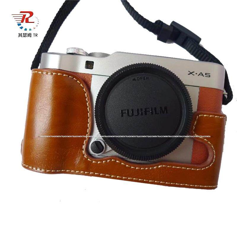 Him helly mall  PU Leather Camera Body Cover Case For Fujifilm XA5