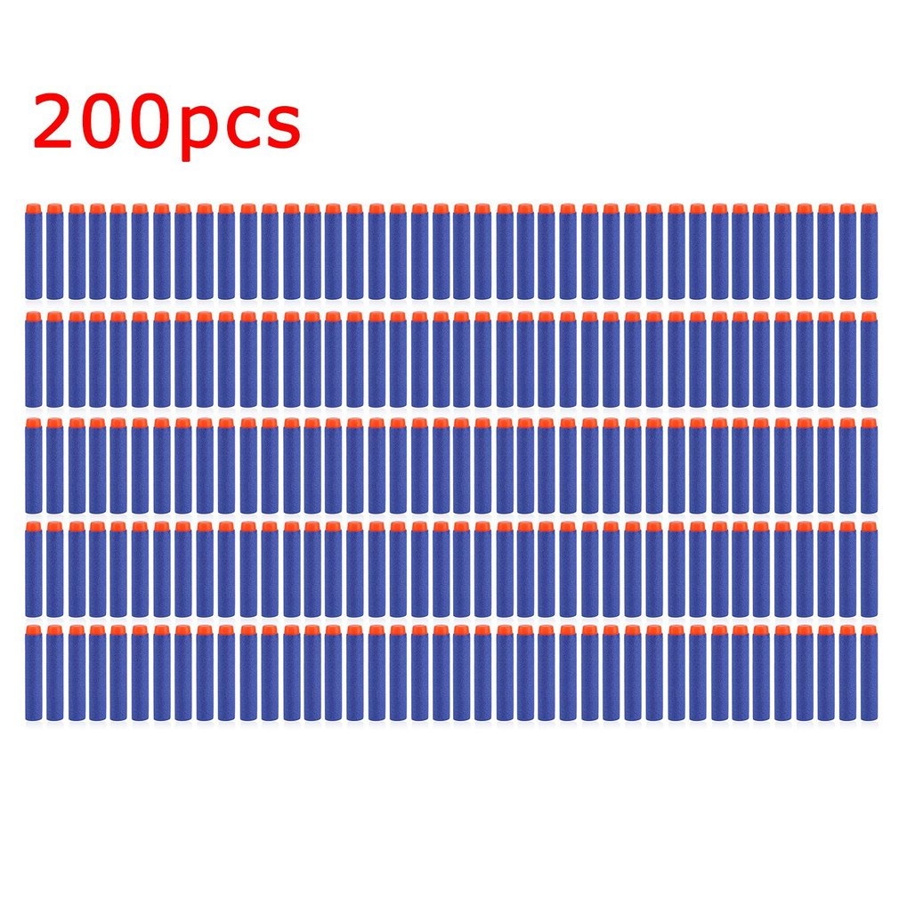 50/100/200 Pcs Lightweight Soft Gun Air Gun Bullets Darts EVA  Bullet Darts For NERF N-Strike Series Blasters Kid For Toy Gun