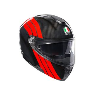 AGV Sportmodular Stripes Carbon Red Modular Helmet