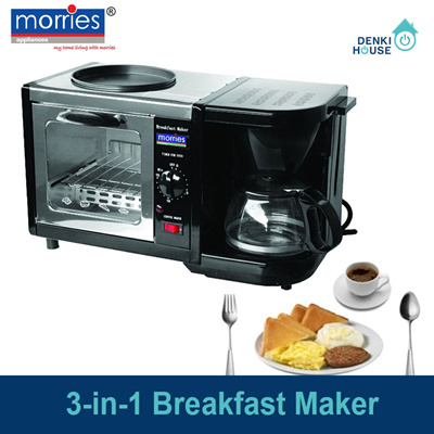 [Morries] MS301SBM/3-in-1 breakfast maker/ Coffee Maker/ Toaster Oven/ Frying Pan /compact design