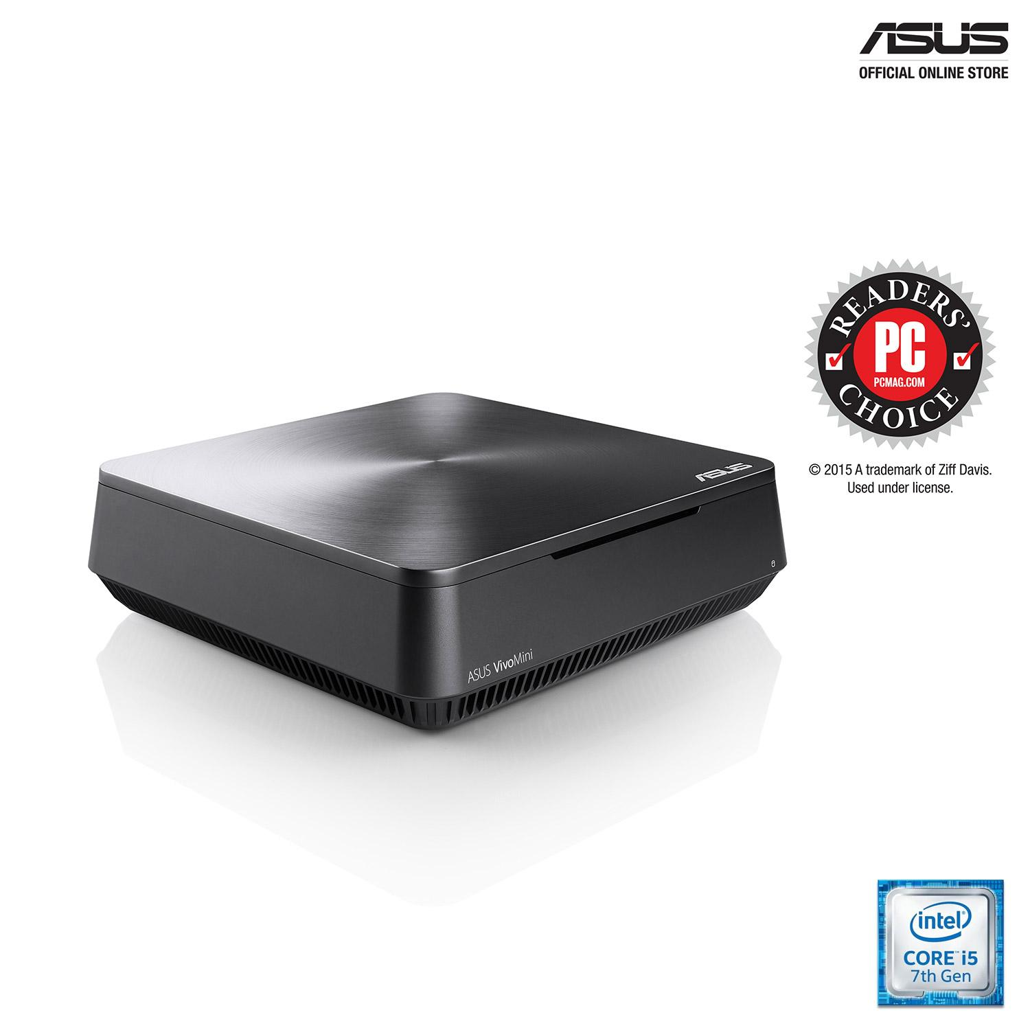 ASUS VivoMini VM65N (VM65N-G114Z) Powerful home entertainment mini PC with up to an Intel Core i5 processor, Windows 10 Home, discrete NVIDIA GeForce graphics, DDR4 RAM, 4K UHD, 802.11ac Wi-Fi and Vivo DualBay (accommodate up to two 2.5-inch SSD/HDD)