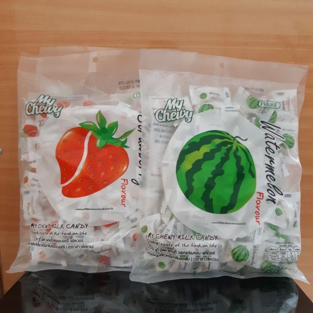 (🌷泰國愛買商品店)現貨🇹🇭泰國 My Chewy 水果軟糖 大包裝 360g 100顆 (草莓/西瓜)