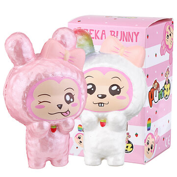 Puni Maru Squishy Cheeka Bunny Rabbit With Carrot Licensed Slow Rising With Original Packing