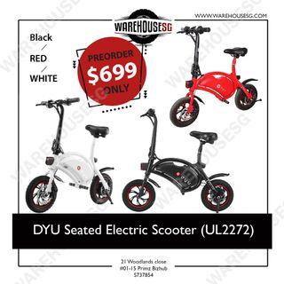 PREORDER DYU Seated Electric Scooter (UL2272)