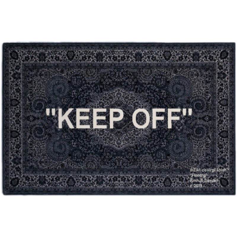 "IKEA X Virgil Abloh ""KEEP OFF""地毯 2019IKEA ART EVENTS"