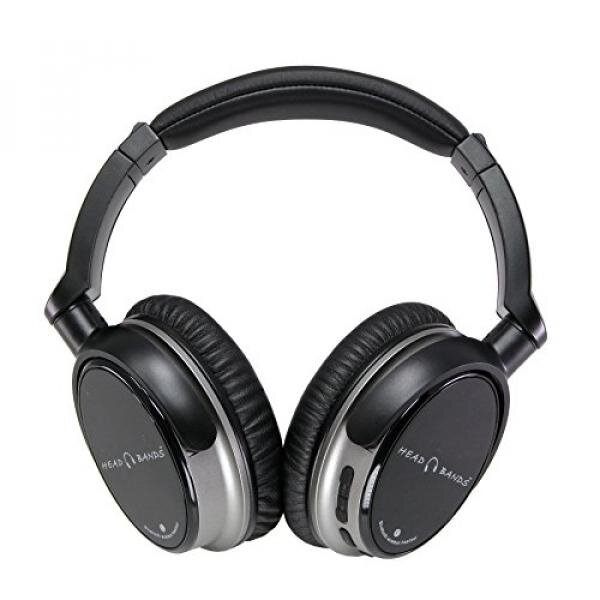 Head Bands Bluetooth Headphones Over Ear, Hi-Fi Stereo Wireless Headset, Soft Earmuffs, Built-in Mic and Wired Mode for PC, Smart Phone, Tablet and Smart TV, Includes Travel Case, HB-BT30, Grey - intl