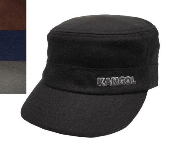 KANGOL KANGOL 紋理羊毛軍帽紋理羊毛軍隊帽,黑色煙草海軍法蘭絨 [帽子帽帽男女男女皆宜] prast-inc