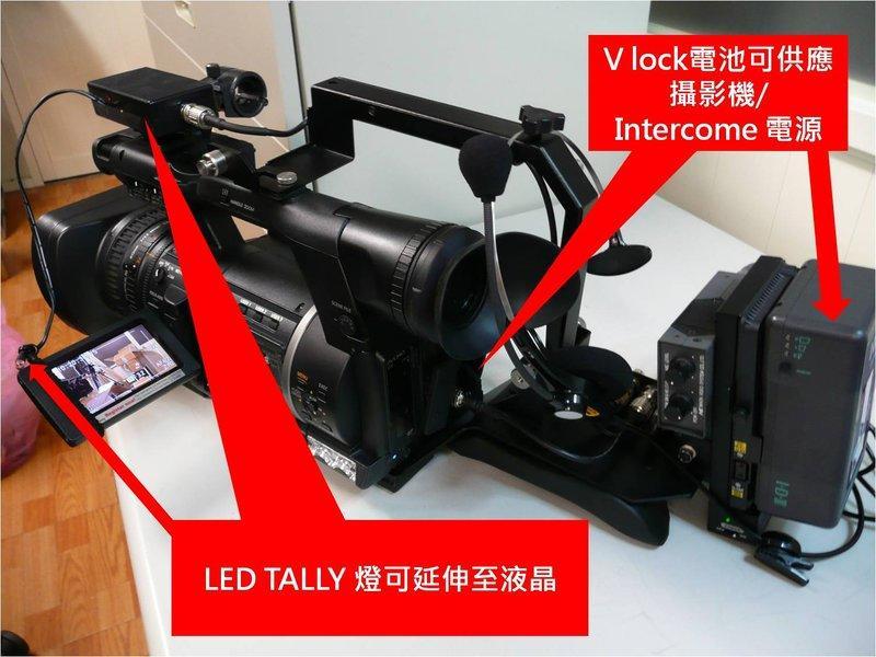 [日商映像]改 AG-AC160 機器用V lock電池 可掛對講機, tally燈 AG-AC160A