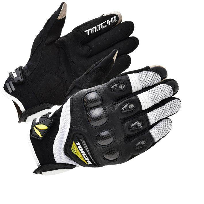 3 Color Summer Classic RS-TAICHI RST418 Carbon Breathable Racing Gloves Touch Screen