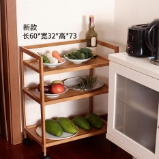 RuYiYu - Rolling Bamboo Kitchen storage trolley cart ,Kitchen trolley cart,Space Saving Cart - intl