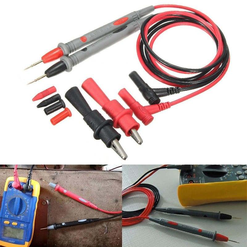 1pc 1000V 20A Probe Test Lead + Alligator Clips Clamp Cable Wire Test For Digital Multimeter Tester IC Pins Mayitr C Store