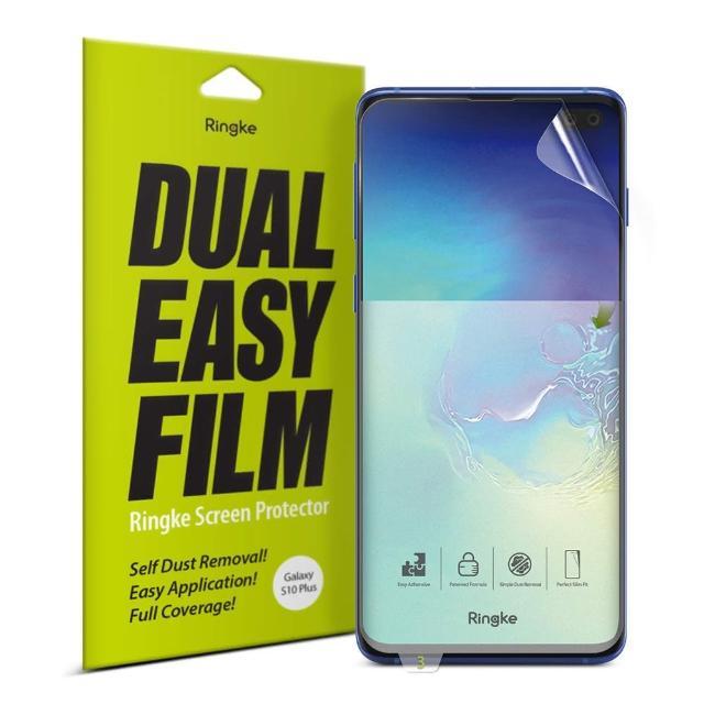 【Ringke】三星 S10 Plus [Dual Easy Film] 易安裝滿版螢幕保護貼 - 二片裝(S10+易安裝滿版螢幕保護貼)