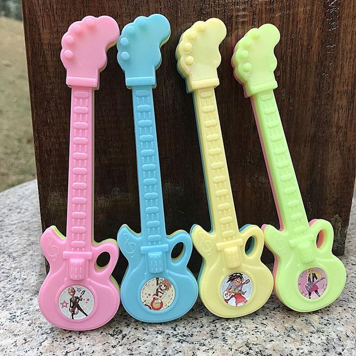 🌟Gdmmcc🌟韓國吉他造型創意中性筆學生卡通水性筆 音樂造型文具樂器水筆原子筆
