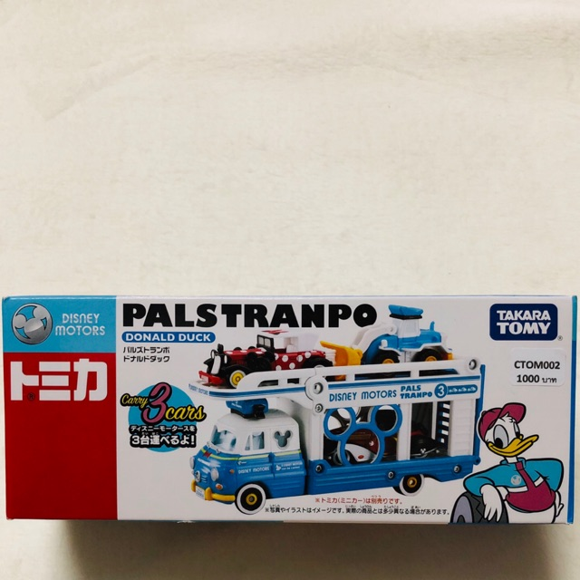Tomica #DISNEY MOTORS PALSTRANPO DONALD DUCK