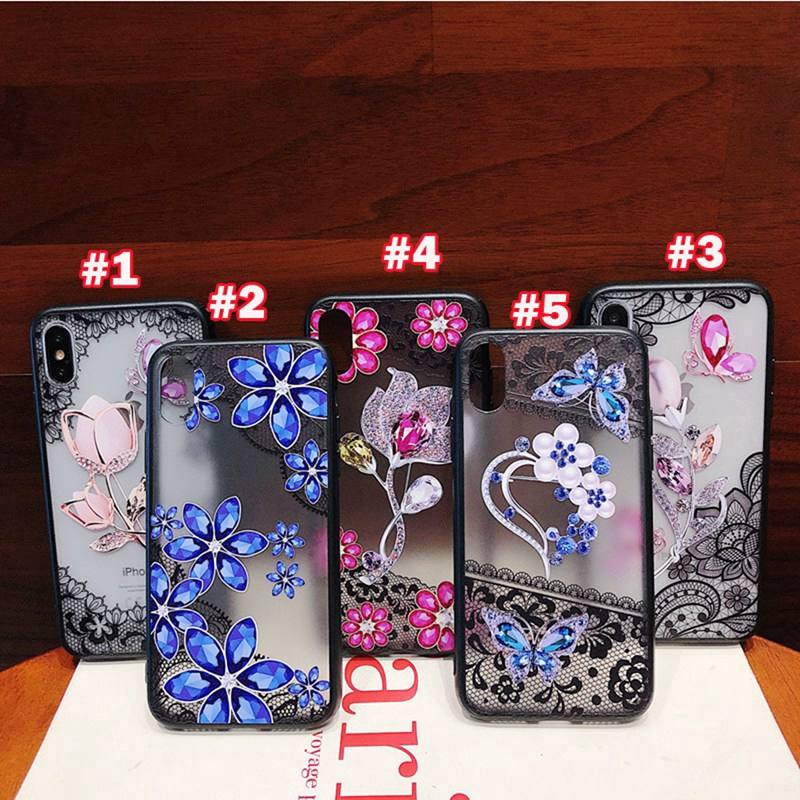 Casing vivo Y79 Y75 Y71 Y69 Y67 Y66 Y55 Y53 Y51 V7 Plus case lace flower cover