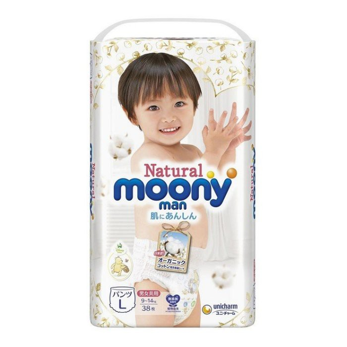 【小如的店】COSTCO好市多線上代購~Natural Moony 日本頂級版紙尿褲 褲型-L號(每箱152片)