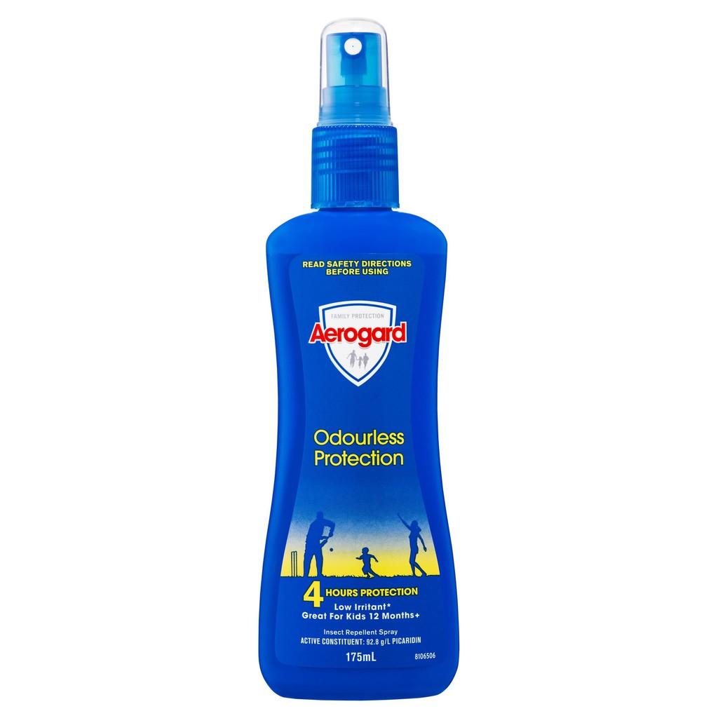 澳洲製熱銷防蚊液 寶寶也適用 Aerogard  175ml 無香 Insect Repellent Odourless