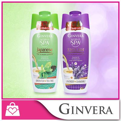 [Ginvera] World SpaOil In Body Lotion230g(Japanese Green Tea-Tea Tree/EnglishLavender  Chamomile)