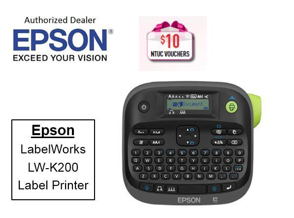 Epson LabelWorks LW-K200 Label Printer ** Free $10 NTUC Voucher Till 2nd Mar 2019  ** LWK200 LWK 200