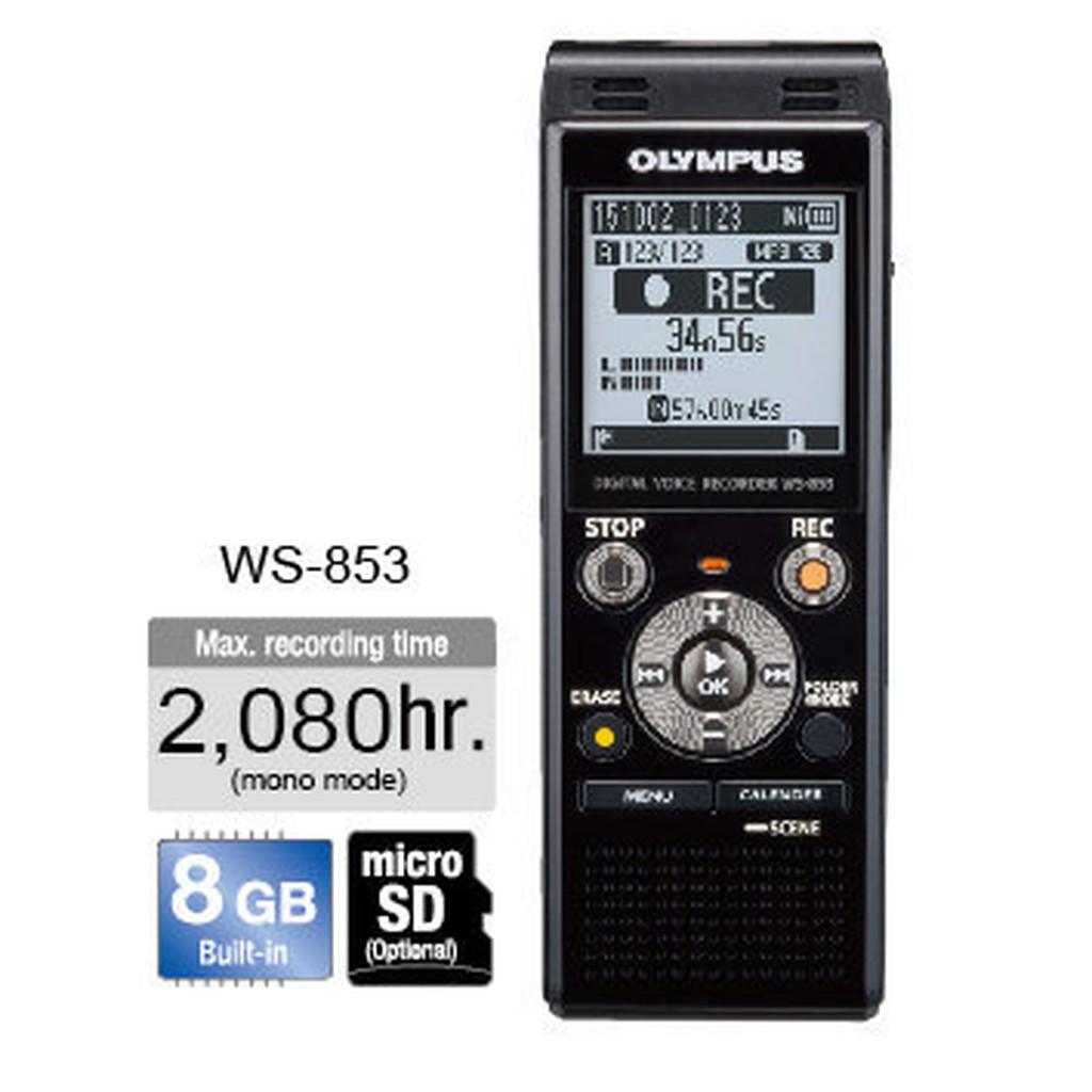 [振宇影音]2016新上市OLYMPUS錄音筆 WS-853內建8GB可擴充micro SD記憶卡2GB至32GB