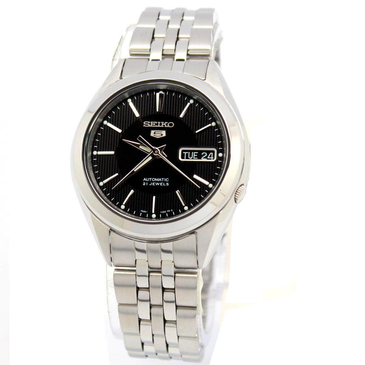 Seiko 5 Automatic Silver Stainless-Steel Case Stainless-Steel Bracelet Mens SNKL23K1
